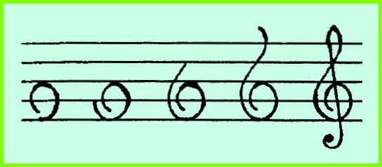 как нарисовать скрипичный ключ