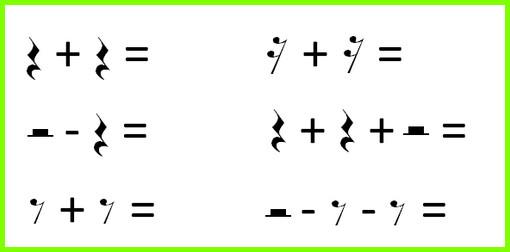 музыкально-математические примеры с паузами