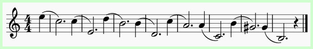 пример мелодии с обращениями интервалов