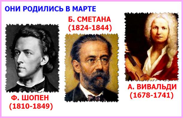 композиторы, родившиеся в марте